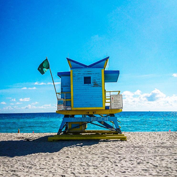 Poste surveillance South Beach à Miami