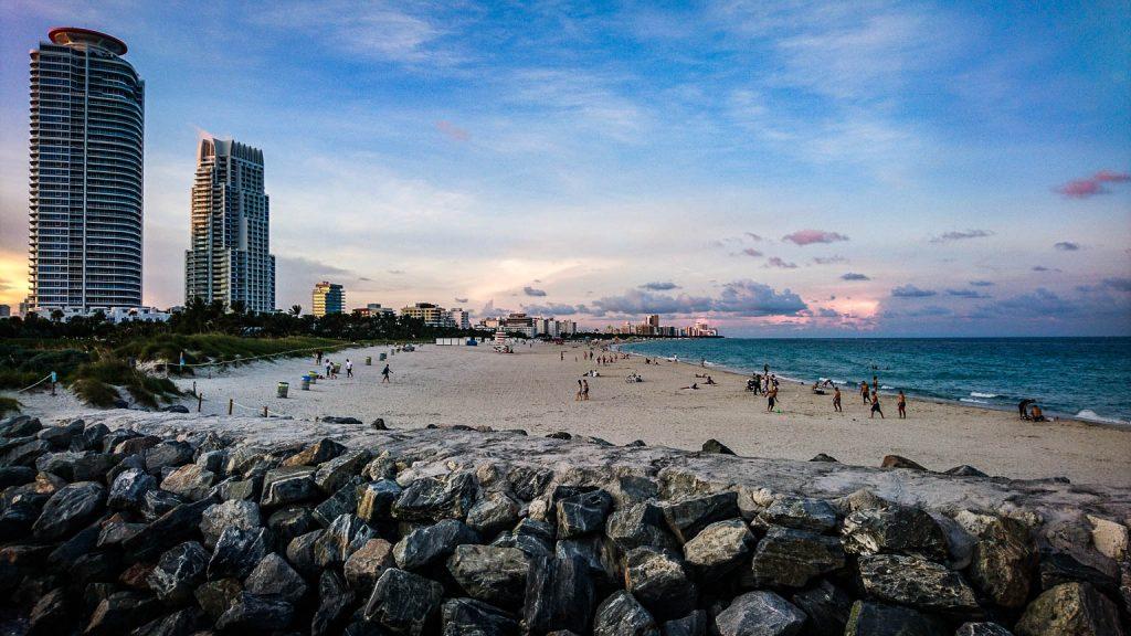 Vue de South Beath Miami à partir de South Point Park Pier