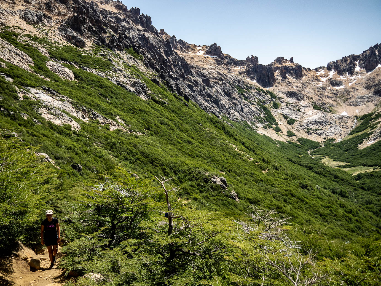 Randonnée vers le refugio Grey à Bariloche en Argentine