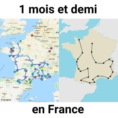 1 mois et demi en France : Itinéraire, Budget, Conseils
