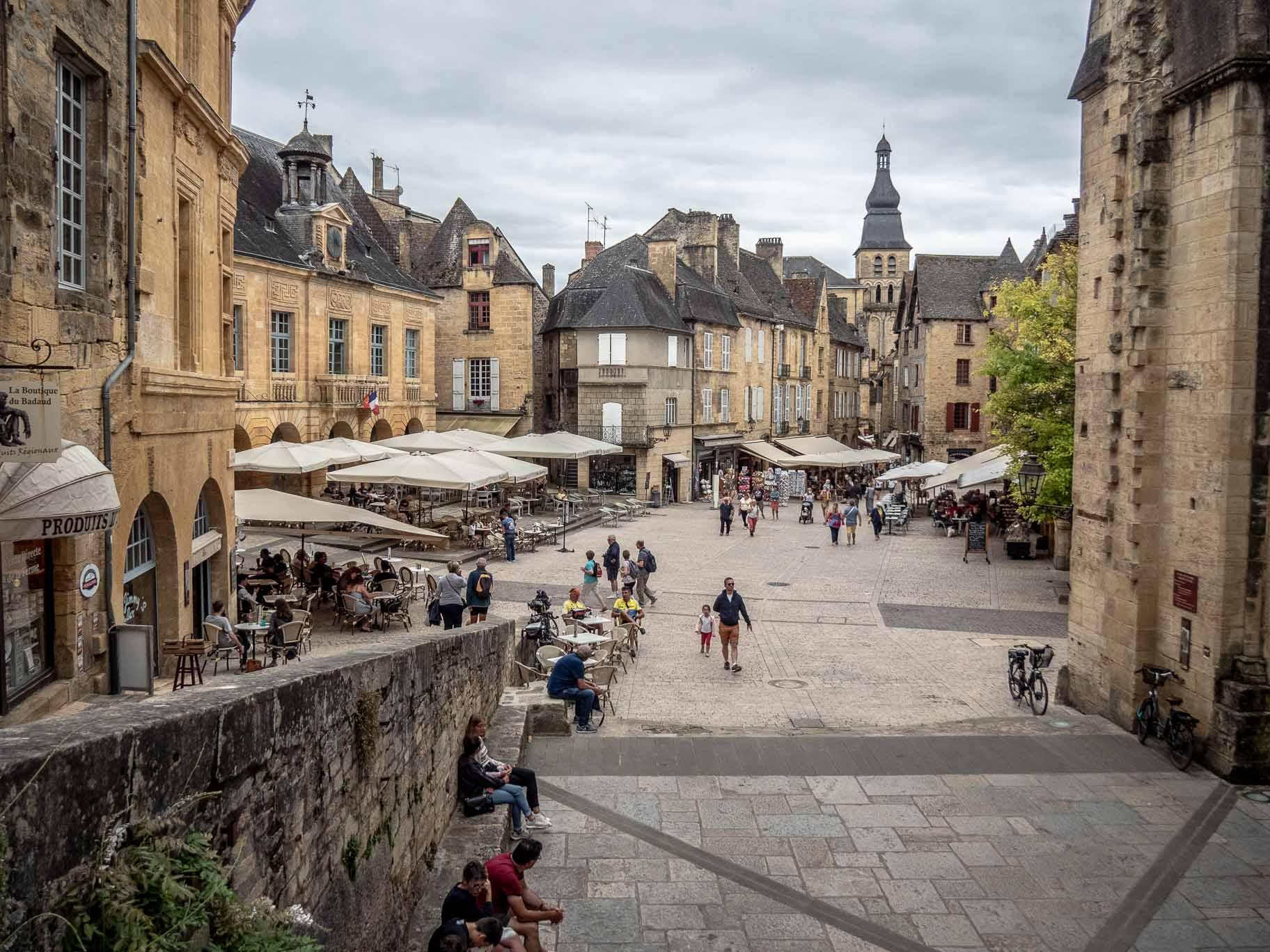 Centre-ville de Sarlat-la-Canéda en Dordogne