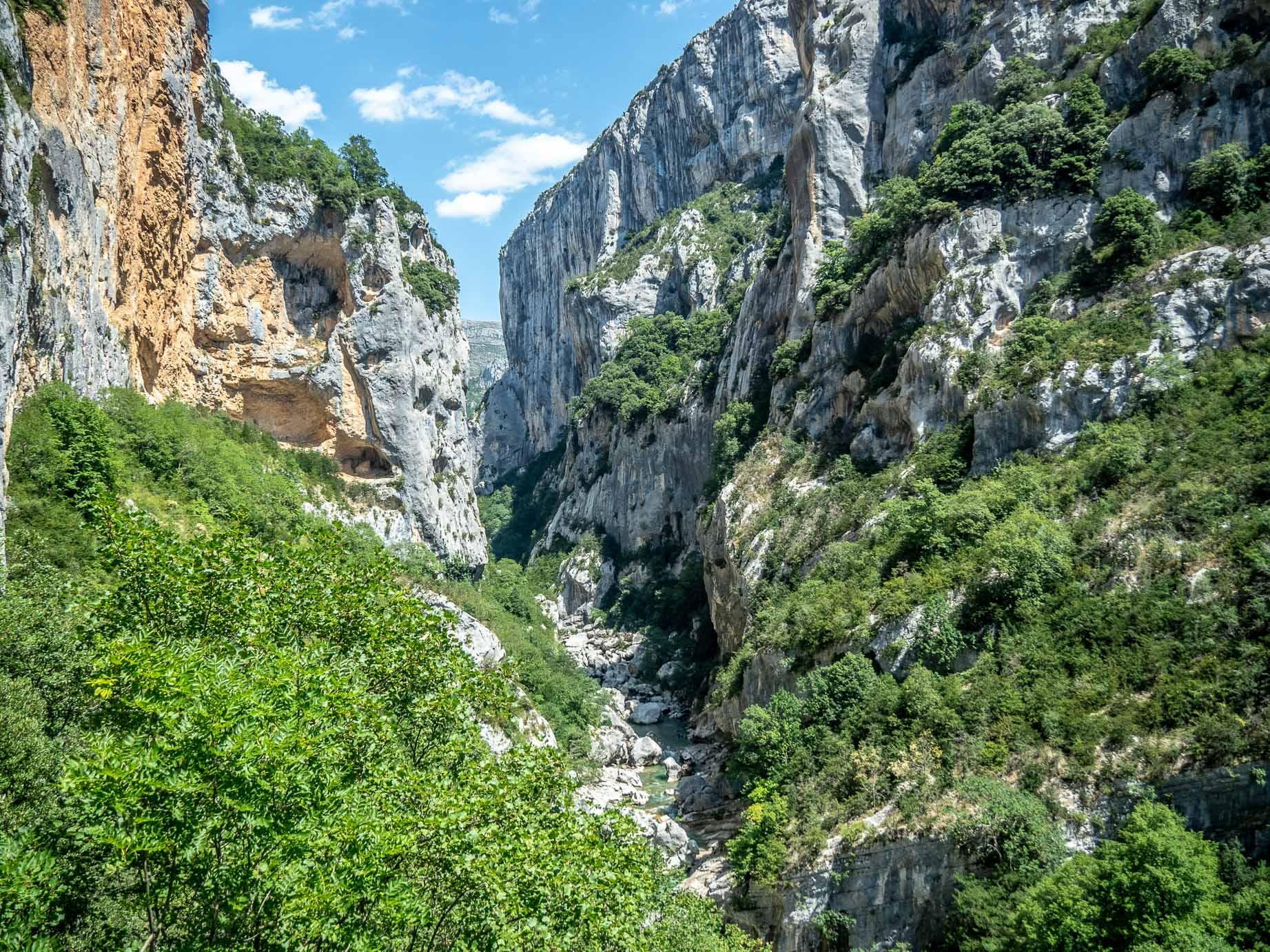 Le couloir Samson dans les gorges du Verdon en France